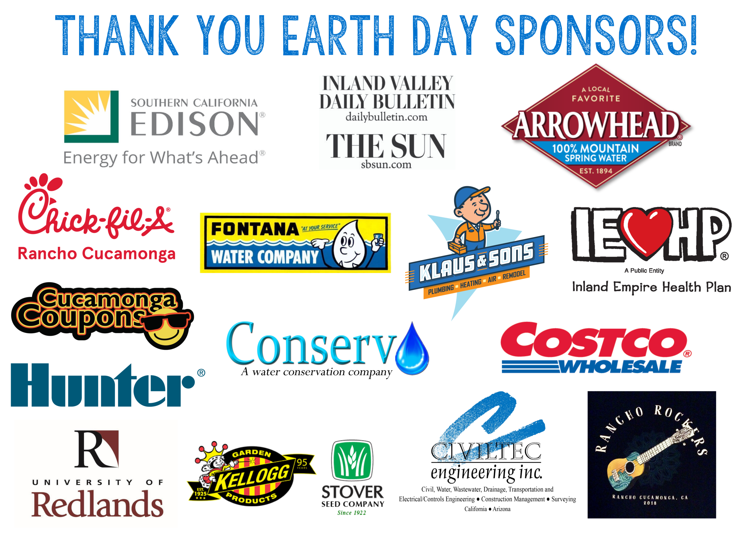 2020 Earth Day Sponsors
