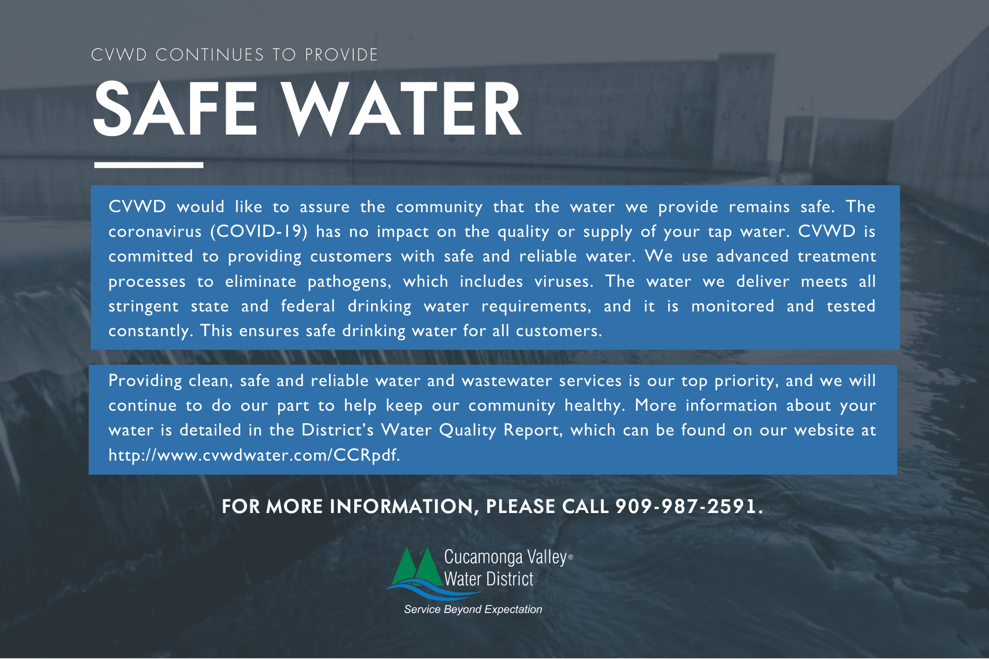 CVWD Continues to Provide Safe Water