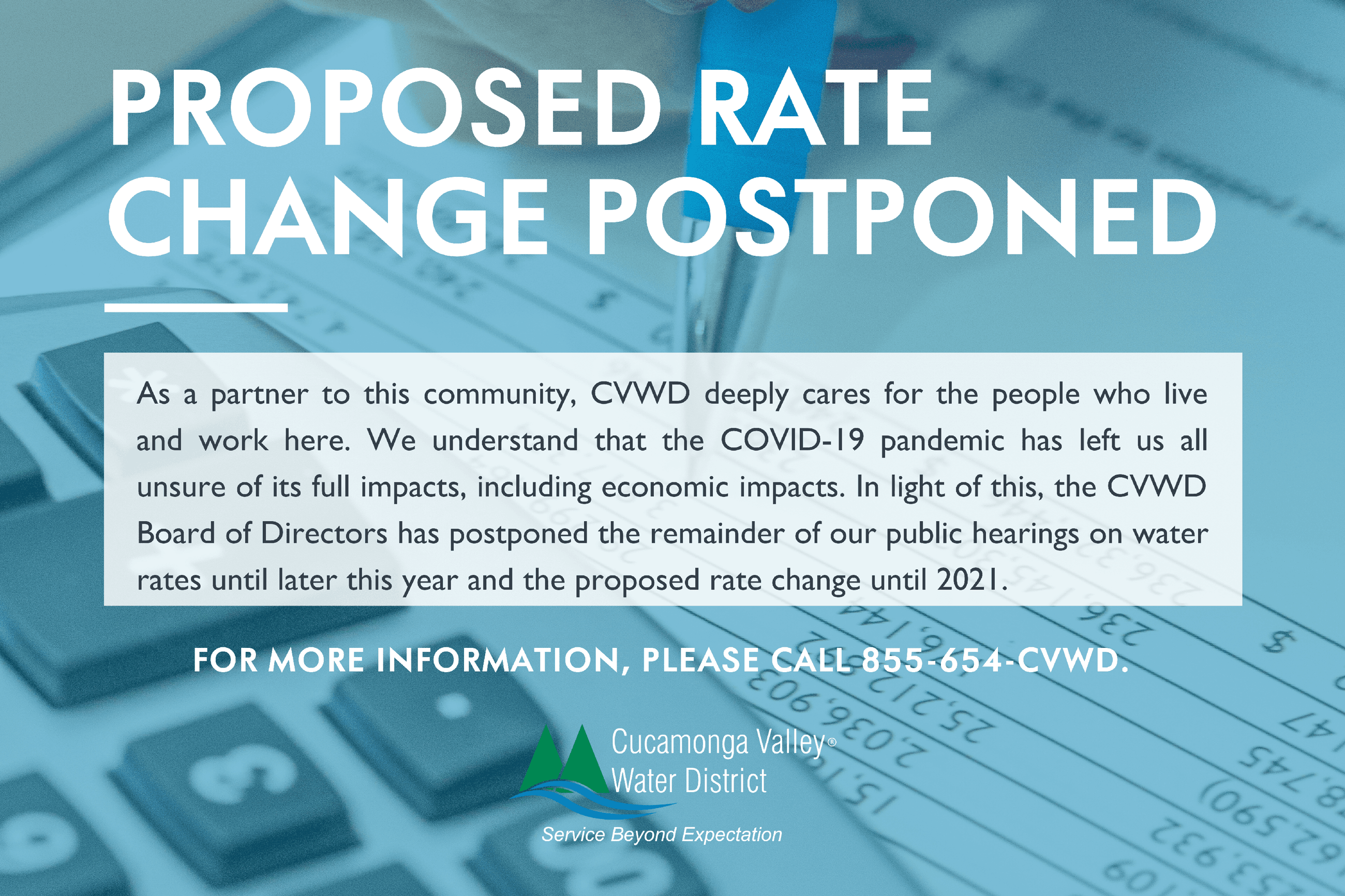 Proposed Rate Change Postponed