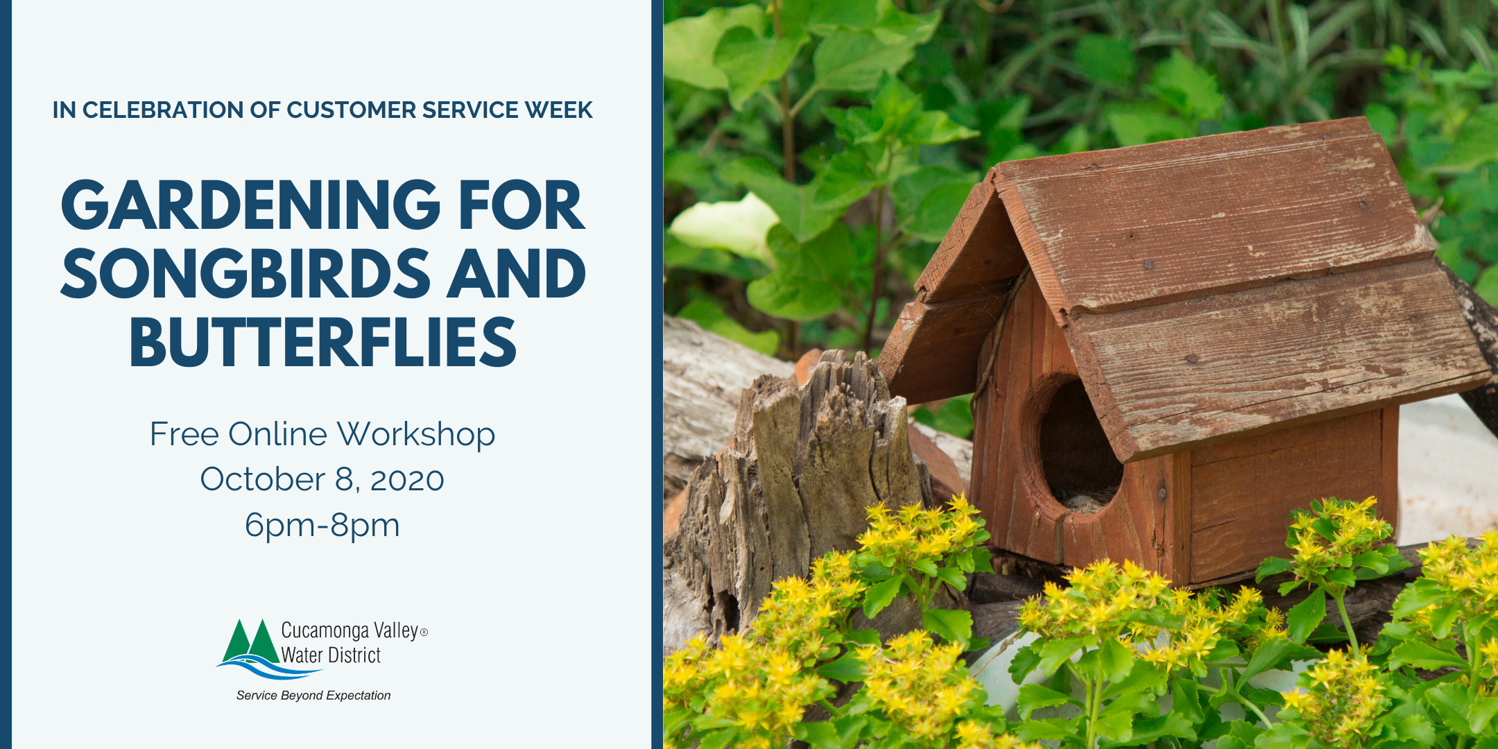 Gardening for songbirds and butterflies workshop